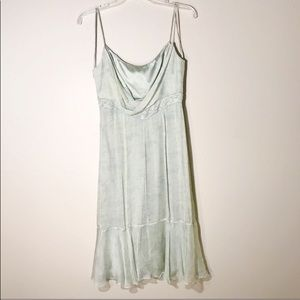 Badgley Mischka EUC Blue & Green Slip Dress | Sz 4